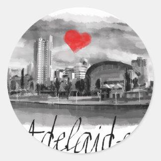 I love Adelaide Classic Round Sticker