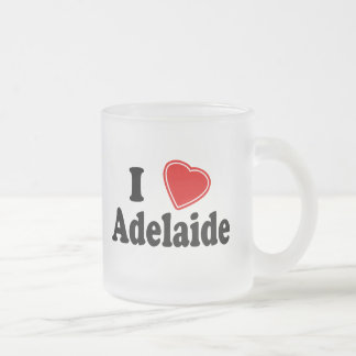 I Love Adelaide Frosted Glass Coffee Mug