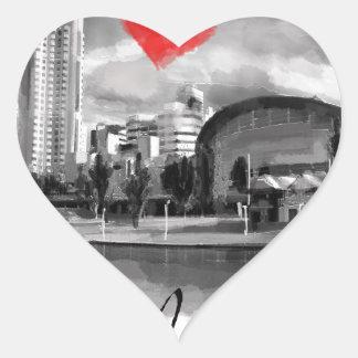 I love Adelaide Heart Sticker