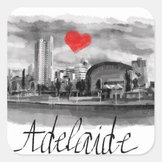I love Adelaide Square Sticker