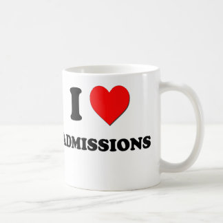 I Love Admissions Coffee Mug