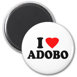 I Love Adobo 2 Inch Round Magnet