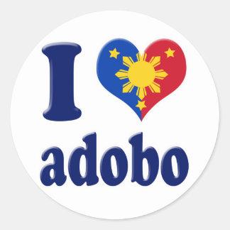 I Love Adobong Pinoy Round Sticker