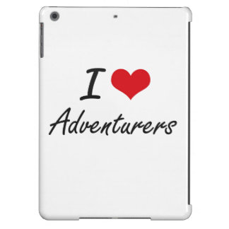 I Love Adventurers Artistic Design iPad Air Cases