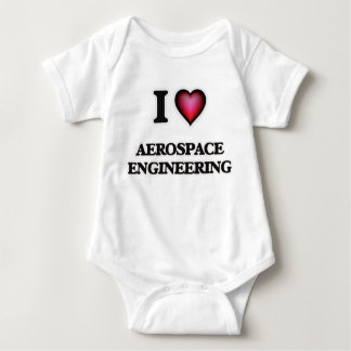 I Love Aerospace Engineering Baby Bodysuit