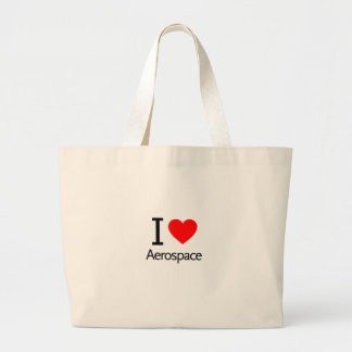 I Love Aerospace Large Tote Bag