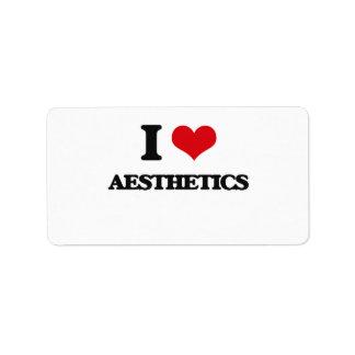 I Love Aesthetics Labels