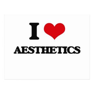 I Love Aesthetics Postcards