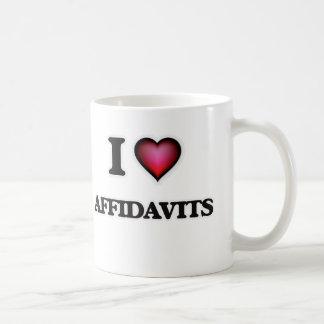 I Love Affidavits Coffee Mug
