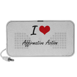 I Love Affirmative Action Artistic Design Mini Speaker