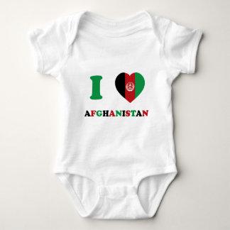 I Love Afghanistan Baby Bodysuit
