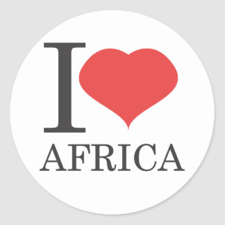 I love Africa Classic Round Sticker