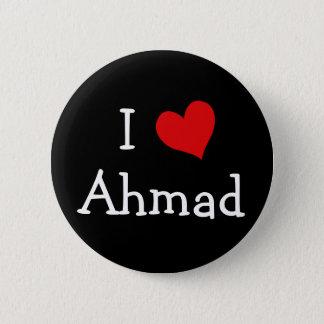 I Love Ahmad 2 Inch Round Button