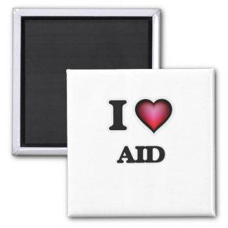 I Love Aid Square Magnet