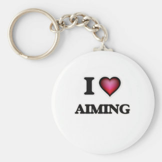 I Love Aiming Keychain