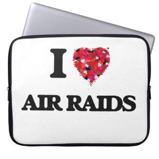 I Love Air Raids Computer Sleeve