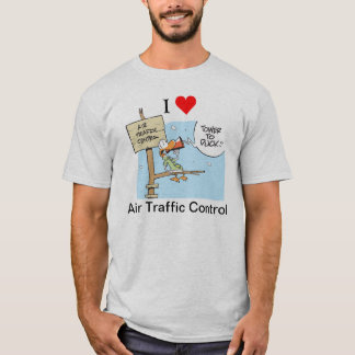 I Love Air Traffic Control Cartoon Shirt