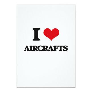 "I Love Aircrafts 3.5"" X 5"" Invitation Card"