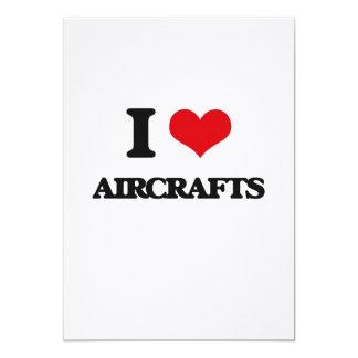 "I Love Aircrafts 5"" X 7"" Invitation Card"