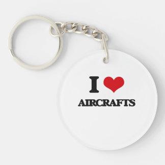 I Love Aircrafts Acrylic Key Chains