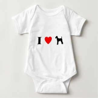 I Love Airedale Terriers Baby Bodysuit