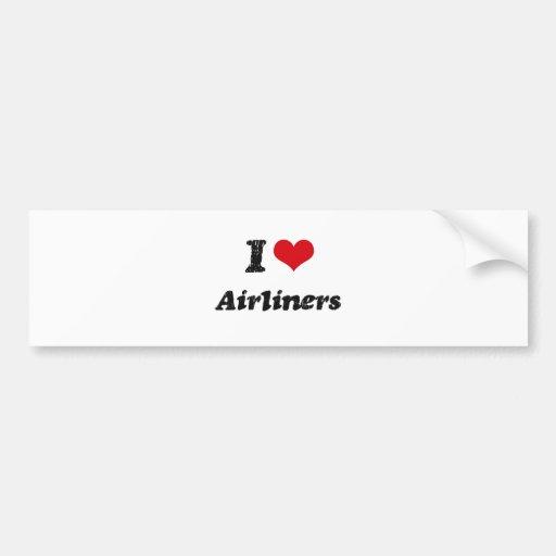 I Love Airliners Bumper Sticker
