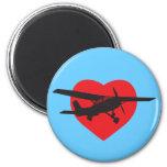 I Love Airplanes Fridge Magnets