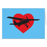 I Love Airplanes Greeting Card