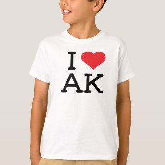 I Love AK - Heart - Kids T T-Shirt