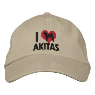 I Love Akitas Embroidered Hat