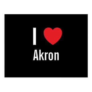I love Akron Postcard