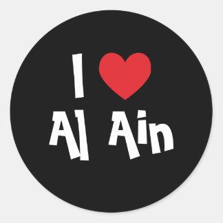 I Love Al Ain Classic Round Sticker