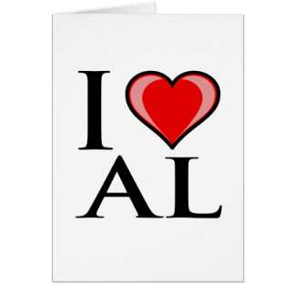 I Love AL - Alabama Card