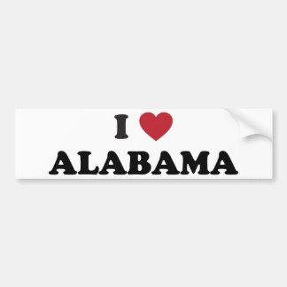 I Love Alabama Bumper Sticker