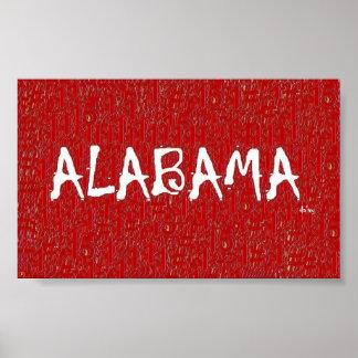 I love Alabama Poster zazzle.com/davyartbamashop*