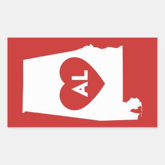 I Love Alabama State Stickers