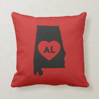 I Love Alabama State Throw Pillow