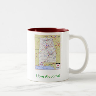 I love Alabama! Two-Tone Coffee Mug