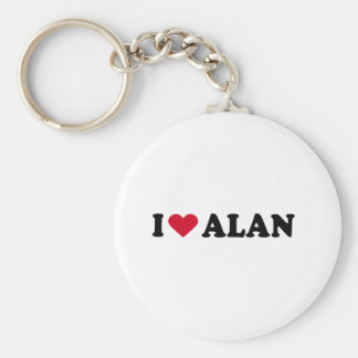 I LOVE ALAN KEYCHAIN