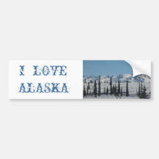 I LOVE ALASKA Bumper Sticker