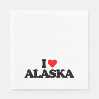 I LOVE ALASKA DISPOSABLE NAPKIN