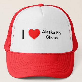 I Love Alaska Fly Shops Trucker Hat