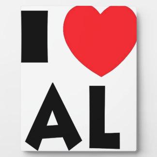 I Love Alaska Plaque