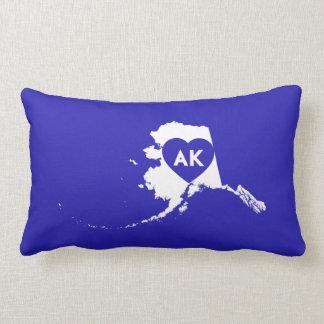 I Love Alaska State Lumbar Pillow