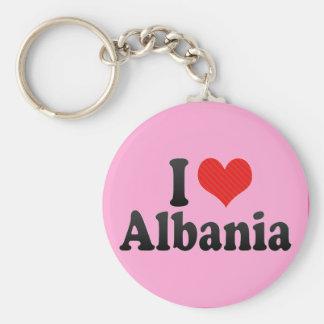 I Love Albania Basic Round Button Keychain