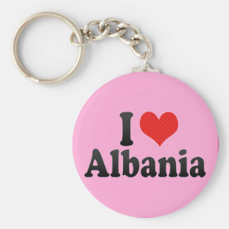 I Love Albania Keychain
