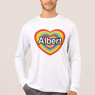 I love Albert, rainbow heart T-Shirt