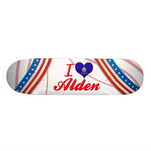 I Love Alden, Kansas Skateboard Decks
