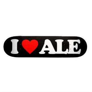 I LOVE ALE CUSTOM SKATE BOARD