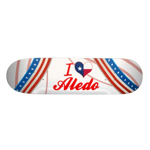 I Love Aledo, Texas Skate Board Deck